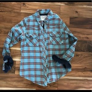 Abercrombie & Fitch Plaid Button up Large